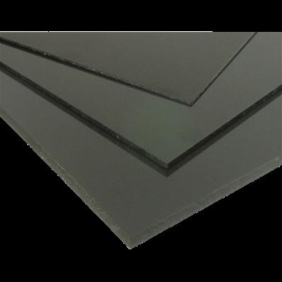 Plaque coup/é de PVC rigide 495 x 495 x 15 mm gris RAL 7011
